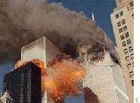 A second plane crashed into the South Tower BBC photo.